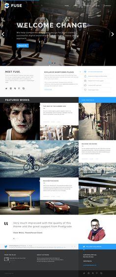 Fuse - Portfolio and Small Agency PSD Template by Zizaza - design ocean , via Behance