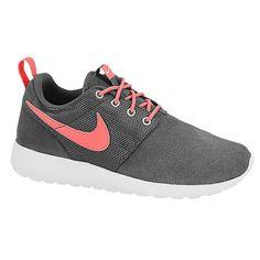 Nike Roshe Run Boys Grade School Dark Grey Atomic Red White White Shoes | Footwear