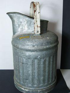 Water Can, Galvanized Steel - Columbian Tank CO, Kansas City MO - 5 Gallon