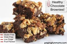 Healthy Chocolate Brownies - great for kids lunchboxes