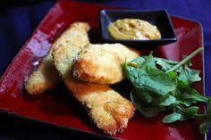 Coconut-macadamia chicken tenders with mango dijon dip ~ Stuff I Make My Husband