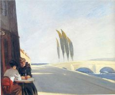 Bistro,  Edward Hopper  ,  1909  , New Realism , oil on canvas  , 72.39 x 59.309 cm  , Private Collection