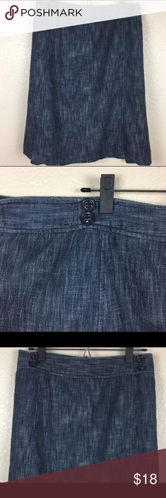 Lane Bryant Denim Skirt Re POSH Love this skirt but its too short for me. I wear my skirts mid calves this is right Below knee.  So I'm re- POSHING..  Please look at pics for original posting info Blue Denim Skirt Lane Bryant Lane Bryant Skirts Midi