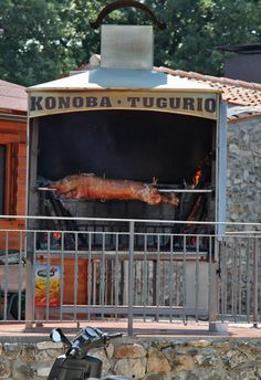 Near Rovinj, Croatia - Suckling Spit-roast Pig