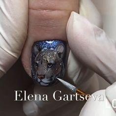 Amazing 7D nail art tutorial by @elena_gartseva Glitter Nail Art, Gel Nail Art, Gel Nails, Mani Pedi, Enamels, Finger Nails, Nail Polish Designs, Cute Nails, Nail Art