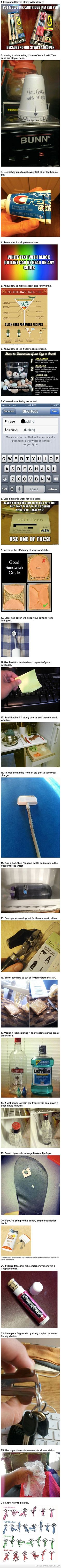 Simple Life Hacks- Mainly for the last one...