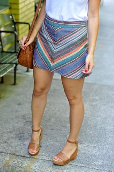 Free People Striped Mini Skirt and Tank Top - summer date night outfit ideas - My Style Vita @mystylevita