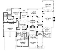 Luxury House Plans AA  D are two story mediterranean home    Luxury Tuscan house plan   floor plan first floor