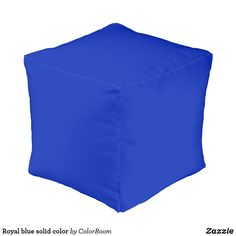 Royal blue solid color pouf Purple Cushions, Blue Pillows, Keep It Cleaner, Iris, Royal Blue, Sapphire, Color, Beautiful, Purple Throw Pillows