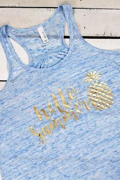 Say hello to summer with this flowy racerback tank