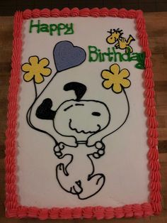 Commons Birthday Party 4/13 Snoopy Cake Theme