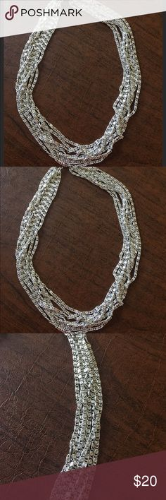 "Vintage Sarah Coventry multi strand necklace Vintage ""Silvery Cascade"" 8-strand necklace.  Is 17"" long and has a fold over clasp.  Very lightweight and in excellent condition. Sarah Coventry Jewelry Necklaces"