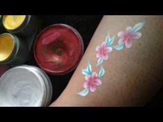 ▶ Flower & Leaves Basic Face Painting Tutorial - YouTube
