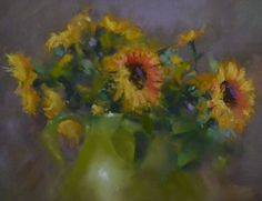 Sunflowers by Mike Beeman Pastel ~ 14 x 11