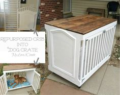 MyLove2Create, Crib Turned Dog Crate