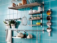 Creative Ways to Decorate a Small Apartment - yay IKEA.  I want all of this in my new microscopic kitchen.