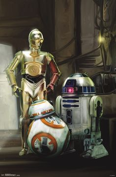 Star Wars The Force Awakens - Droids Poster at AllPosters.com