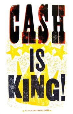 CASH IS KING LetterPress Posters by NashArt on Etsy, $14.00