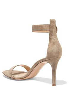 Gianvito Rossi - Portofino Suede Sandals - Beige - IT40.5
