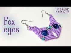 Macrame tutorial: Earring wings of love pattern - step by step guide - YouTube