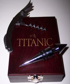 Titanic Wine Bottle Stopper - Titanic Museum Attraction in Branson, Missouri and Pigeon Forge, Tennessee