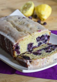 Lemon Blueberry Bread For the bread 1-1/2 cups + 1 tbsp all purpose flour, divided 2 tsp baking powder 1/2 tsp salt 1 cup plain yogurt 1 cup sugar 3 large eggs 2 tsp lemon zest (from 2 lemons) 1/2 tsp vanilla extract 1/2 cup vegetable oil 1-1/2 cups blueberries, fresh or frozen
