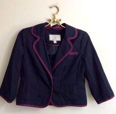 01e7585b09 7.00 | OLD NAVY Dark Blue Purple Womens Blazer Jacket Office Wear Career  Size Small
