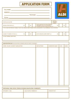 7 Best Aldi Application For Employment Images Pdf Application