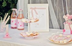 Le Candy Bar | Kit Anniversaire Décoration Sweet table: Sweet table Rose thème Repetto