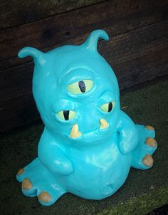 Alien sculpture, Sci fi clay sculpture, Monster art, Alien decor, Polymer clay, Geeky gifts, Gifts for kids, Gifts for geeks, Blue alien - pinned by pin4etsy.com