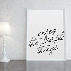 Poster Simple Things - R$ 69,00 no MercadoLivre