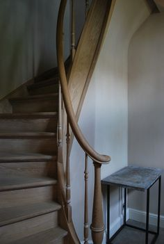 wooden natural stair