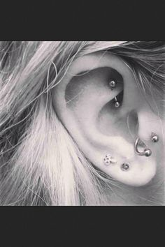 Ear piercing are so cute