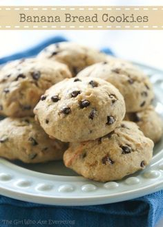 Banana Bread Cookies - soft and moist cookies packed with banana flavor.