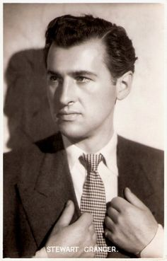 English actor Stewart Granger (1913–1993) became Britain's top box office star in the 1940's which attracted Hollywood's attention.Tall, dark, dignified and handsome, Granger made over 60 films but is mainly associated with heroic and romantic leading roles.