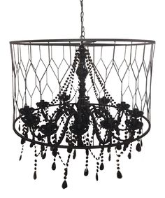 Look At This Black Cylinder Chandelier On Zulily Today