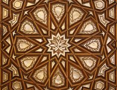 The pattern is from a door in the mosque, on the qibla wall, near the main mihrab, opposite the memorial to John the Baptist. Umayyad Mosque, Damascus, Syria
