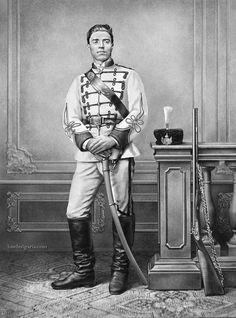 Vasil Levski in the uniform of the First Bulgarian Legion, 1868