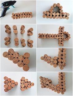 Maritime Korken Deko: Anker & Seepferdchen basteln mit Weinkorken Step by step instructions: Tinker anchor with cork Diy Crafts To Do, Beach Crafts, Crafts For Kids, Seashell Crafts, Card Crafts, Flower Crafts, Paper Crafts, Wine Cork Art, Wine Cork Crafts