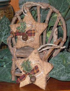 Country Christmas Primitive Star Christmas Ornie http://www.etsy.com/shop/TheBarnHollow
