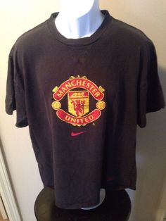 275e73cf186a7 Vintage Manchester United Black Tshirt By Nike Size Xlarge. Manchester  United ClothingClub SoccerThe Unit