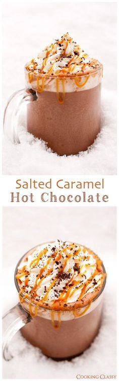 Salted Caramel Hot Chocolate - yes please.