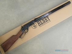 Buy It Now! Now, the Original Henry Rifle is back in all its American-made glory for sale by Ammo And Arms on GunsAmerica - 918991441 Shotguns, Airsoft Guns, Firearms, Henry Rifles, Lever Action Rifles, Steel Barrel, Combat Knives, Fire Powers, Cold Steel