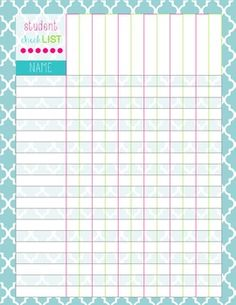 free printable student checklist - great for homework, stations, etc.