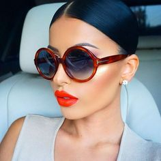 """GLAMREZY ♊️ on Instagram: """"I feel like this week flew #TGIF Shades are @tomford got them from @eyechic_philly @anastasiabeverlyhills """"Persimmon"""" liquid lipstick on the Earrings @queenpee ✨"""""""