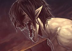 Titan Eren Jaeger. Attack on Titan. (Shingeki no Kyojin)