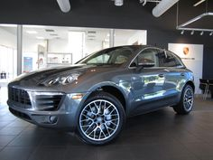 2015 Porsche Macan S. Agate Grey Metallic on Luxor Beige. The new Porsche Macan is the perfect vehicle for those who yearn for that enthusiastic, sporty drive but require the space that a sports car doesn't offer. With the cargo space of the Macan you definitely don't have to compromise speed, torque, handling, or performance whatsoever. This is the perfect fit. For more information contact Shannon at Porsche of Destin: 850.376.4798