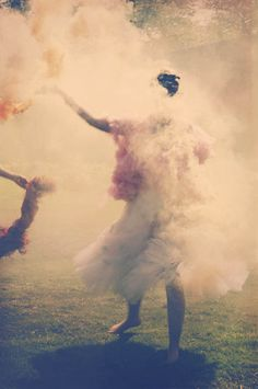 Frothy Petticoats, Crystal Embellished Glasses  Coloured Smoke Bombs