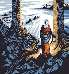 'Midnight walk' by Tom Duxbury. Taken from 'Dorothy Wordsworth's Christmas Birthday' a poem by Carol Ann Duffy.