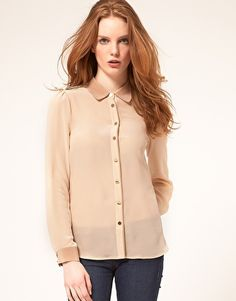 Oasis Color Block Silk Shirt
